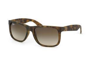 Ray-Ban Justin RB4165 710/13 Sunglasses - Rubber Light Havana