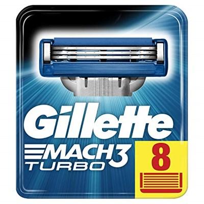 Gillette Mach3 Turbo Razor Blades (8x)