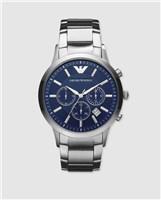 Emporio Armani AR2448 Classic Chronograph Blue Silver