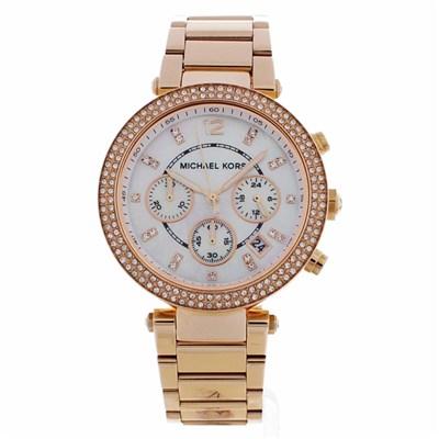 Michael Kors MK5491 Ladies Parker Chronograph Watch - Rose Gold