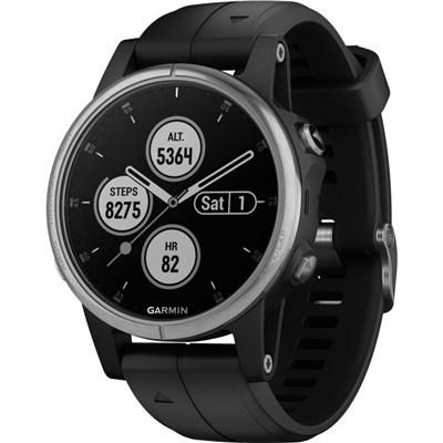 Garmin Fenix 5S Plus Multisport GPS Watch - Black / Silver